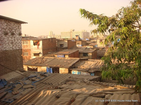 Dharavi from the second floor of a house